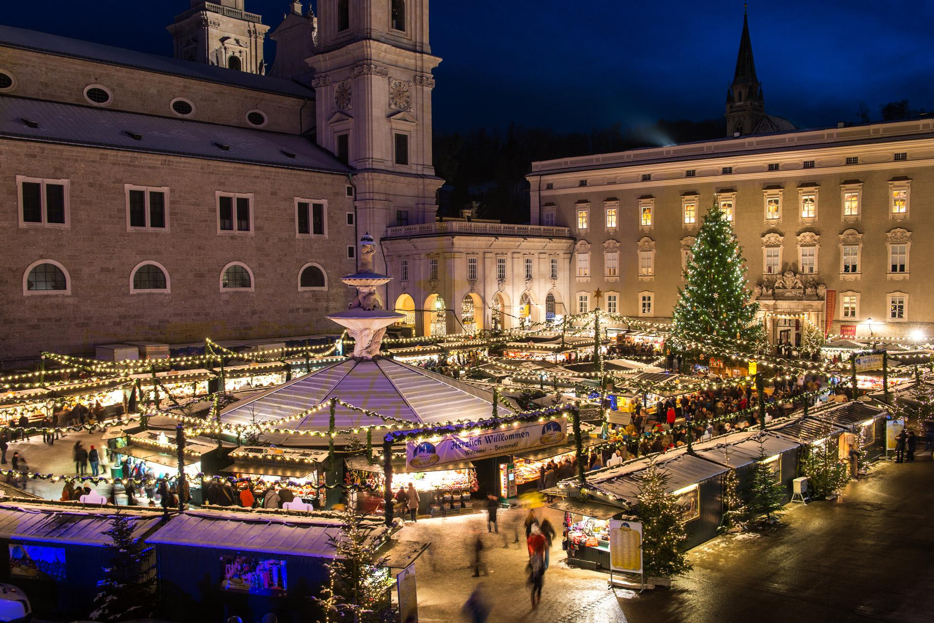 Advent in Salzburg - Salzburger Christkindlmarkt ist nicht weit vom Sauerweingut entfernt.